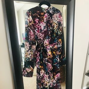 Who What Wear maxi floral dress